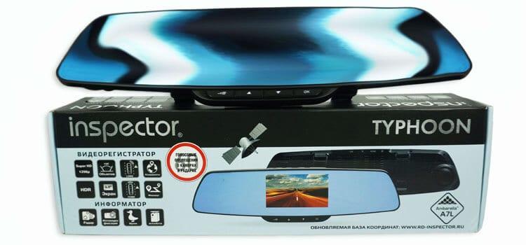 Обзор видеорегистратора в виде зеркала Inspector Typhoon с GPS-модулем и базой камер