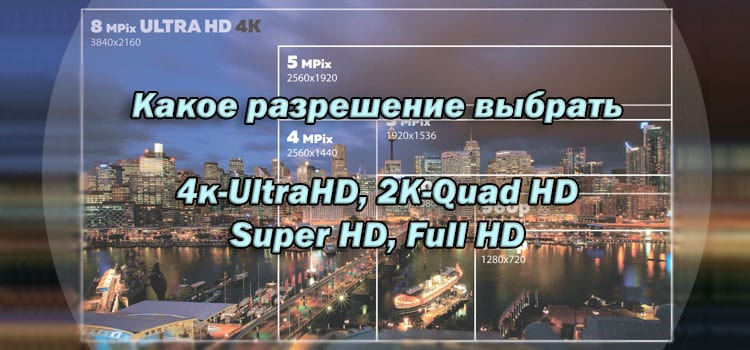 Разница между разришениями 4к-UltraHD, 2К-Quad HD, Super HD, Full HD