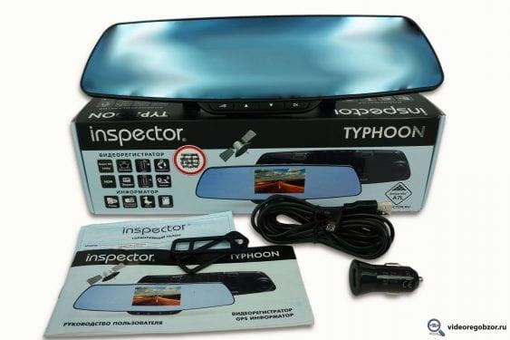 Обзор видеорегистратора в виде зеркала Inspector Typhoon с GPS-модулем и базой камер 1