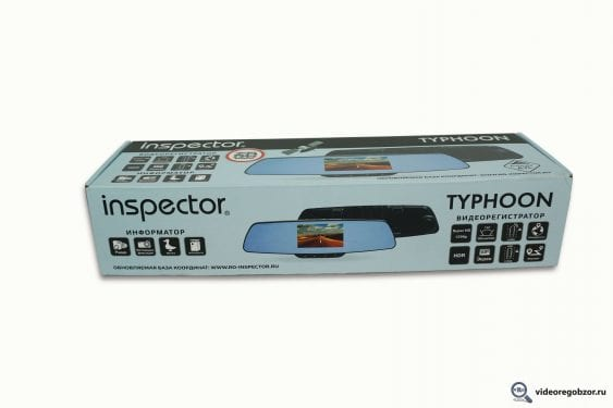 obzor videoregistratora v vide zerkala inspector typhoon s gps modulem i bazoy kamer 21