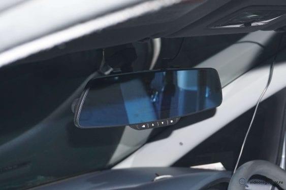 obzor videoregistratora v vide zerkala inspector typhoon s gps modulem i bazoy kamer 27