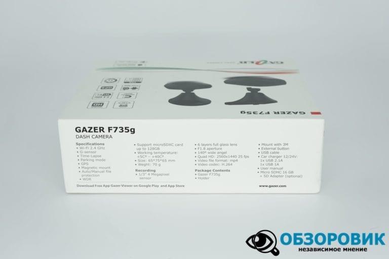 Obzor Gazer F735 G 11 VideoregObzor Обзор видеорегистратора Gazer F735g