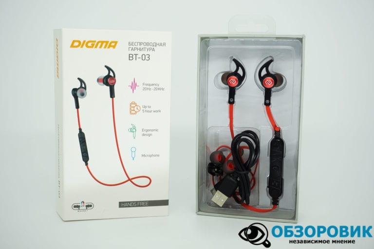 Digma BT 03 3 VideoregObzor Обзор гарнитуры Digma BT-03