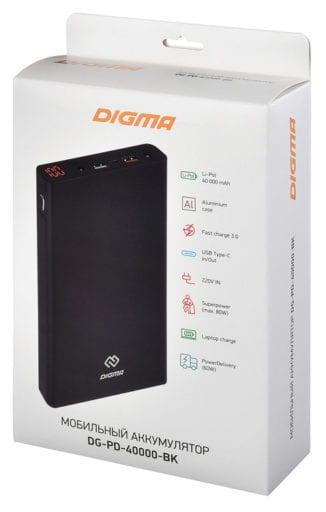 Универсальный аккумулятор DIGMA DG PD 40000 power bank 10