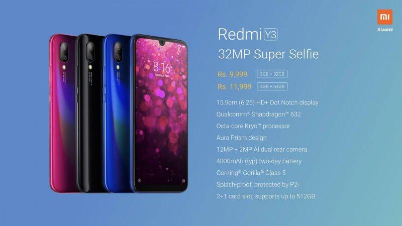 Redmi Y3 img specs 2