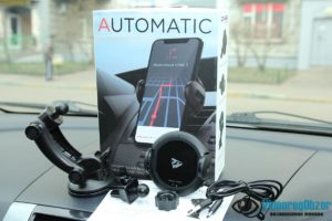 автомобильная беспроводная зарядка с сенсорным механическим захватом QCYBER AUTOMATIC 5