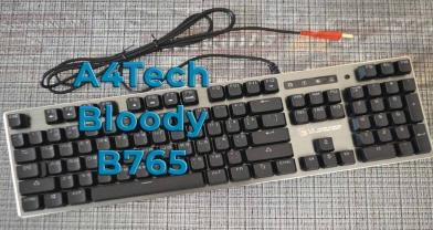 Обзор игровой клавиатуры A4Tech Bloody B765