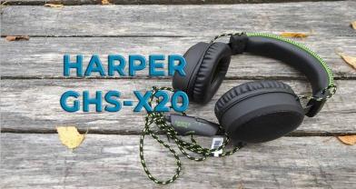 Обзор игровой гарнитуры HARPER Gaming Master GHS-X20 с микрофоном