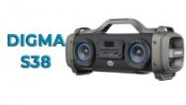 Обзор мощной портативной акустики Digma S-38